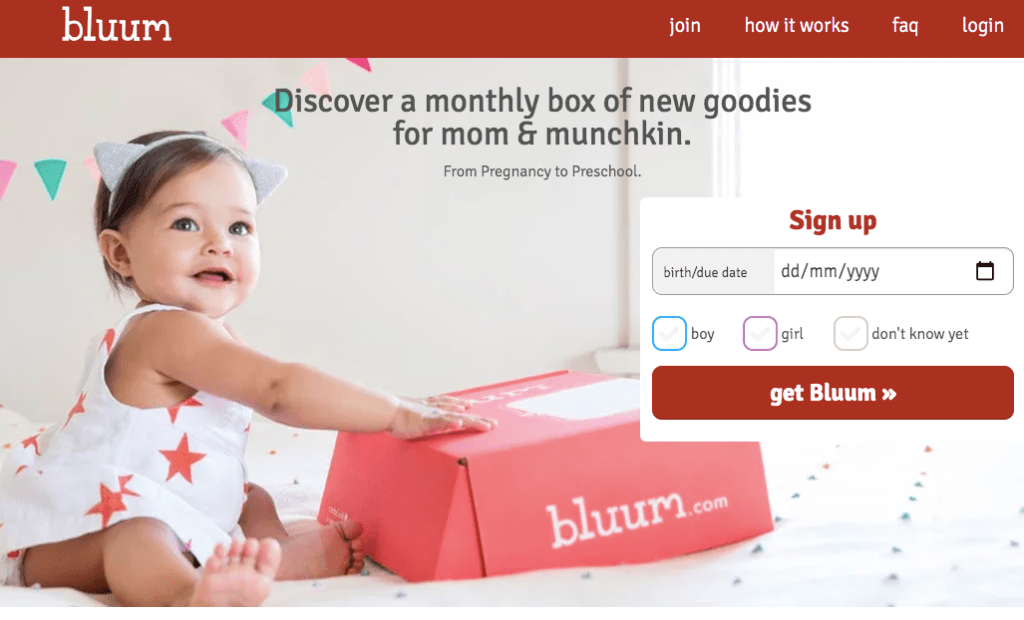 Bluum: subscription boxes for moms and babies for under $30