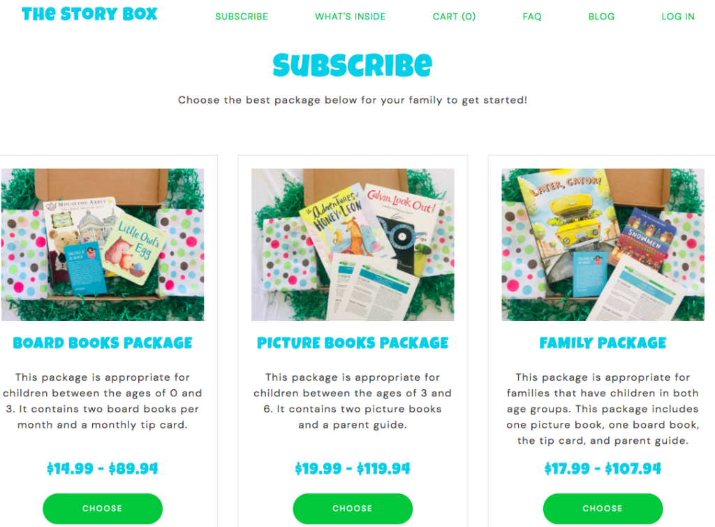 story box subscription boxes for moms and babies for under $30